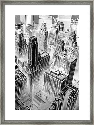 Lower Manhattan Framed Print