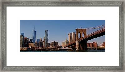 Lower Manhattan Nyc Framed Print