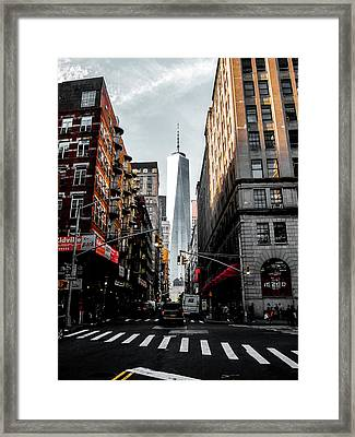 Lower Manhattan One Wtc Framed Print