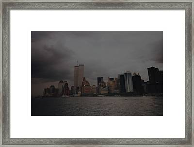 Lower Manhattan Framed Print by Rob Hans