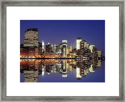 Lower Manhattan Skyline Framed Print by Sean Pavone