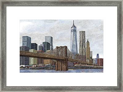 Lower Manhattan Skyline 2 Framed Print