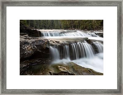 Lower Mcdonald Creek 1 Framed Print by John Daly