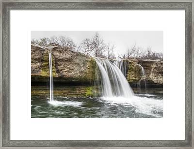 Lower Mckinney Falls Framed Print