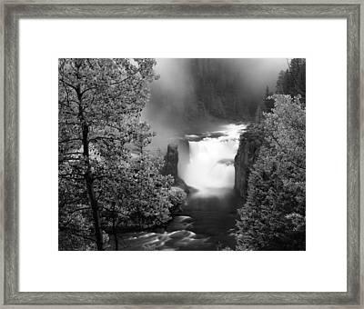Lower Mesa Falls Framed Print by Leland D Howard