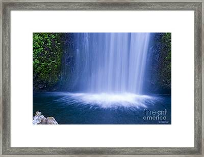Lower Multnomah Falls Framed Print by Larry Keahey