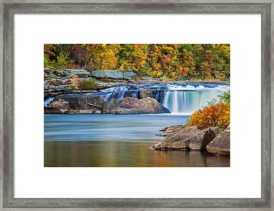 Lower Ohiopyle Falls Framed Print by Jennifer Grover