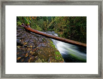 Framed Print featuring the photograph Lower Punch Bowl Falls by Jonathan Davison