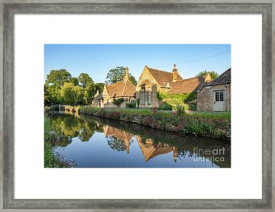 Lower Slaughter Summer Evening Framed Print by Tim Gainey