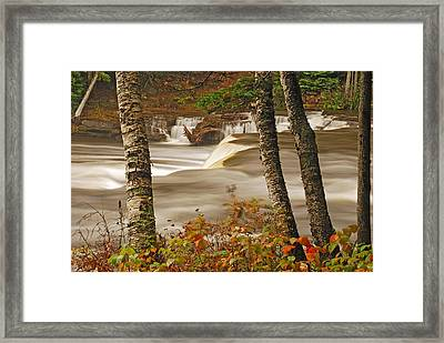 Lower Tahquamenon Falls 5 Framed Print by Michael Peychich