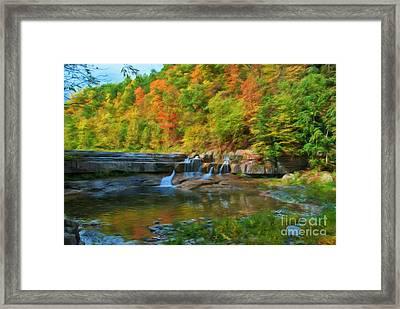 Lower Taughannock Falls II Framed Print