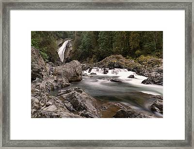 Framed Print featuring the photograph Lower Twin Falls by Jeff Swan