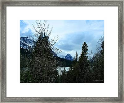Lower Two Med Lake Through The Trees Framed Print