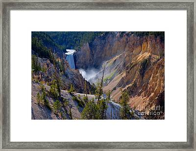Lower Yellowstone Falls Framed Print
