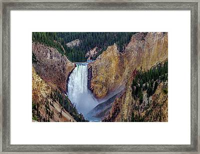 Lower Yellowstone Falls II Framed Print by Bill Gallagher