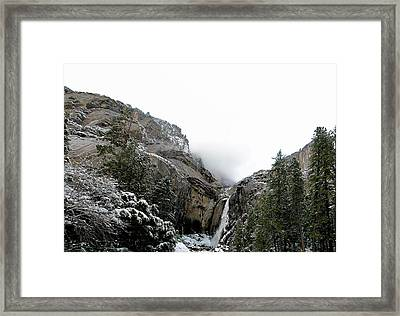 Lower Yosemite Falls California Framed Print by Larry Darnell