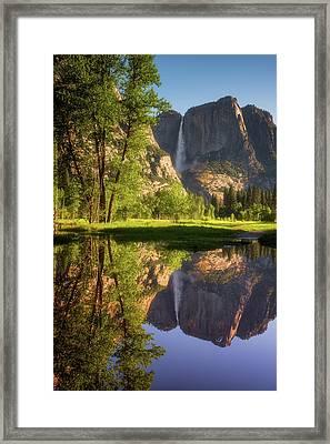 Lower Yosemite Morning Framed Print by Darren White