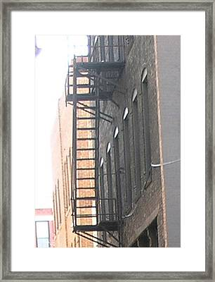 Lowertown Fire Escape Framed Print by Janis Beauchamp