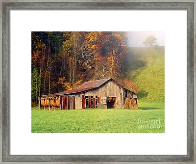 Lowes Barn Framed Print