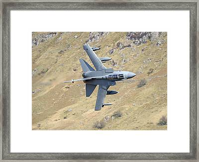 Lowflying Tornado In The Welsh Hills 01 Framed Print by Barry Culling
