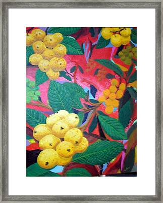 Framed Print featuring the painting Lowquats In Hot Spring by Hilda and Jose Garrancho