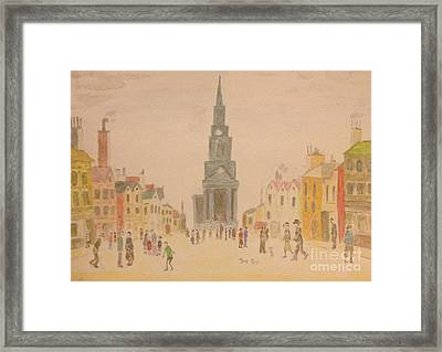 Lowry And Shadow Of Japan Framed Print by Sawako Utsumi