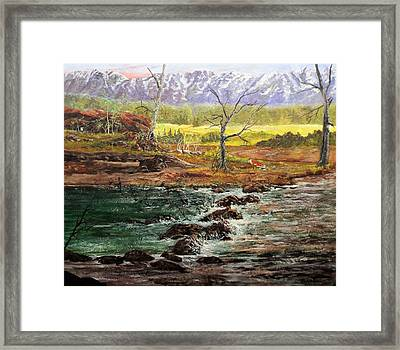 Lowwater Crossing  Framed Print