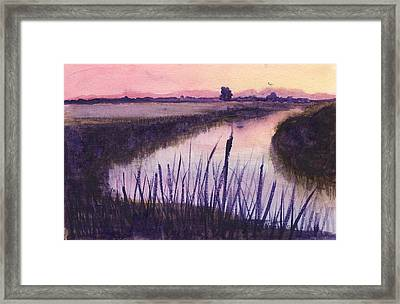 Loxahatchee Sunset Framed Print