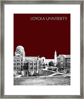 Loyola University Version 4 Framed Print by DB Artist