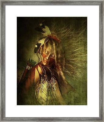 Lozen Portrait Framed Print by Shanina Conway