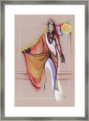 Lpr Black Woman Framed Print by Anthony Burks Sr