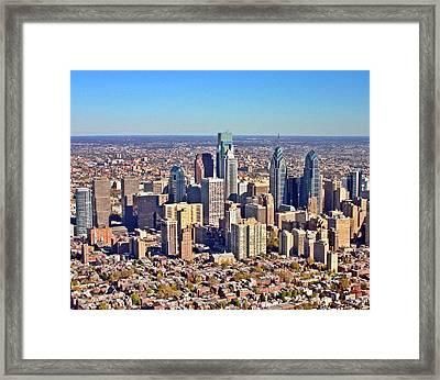 Framed Print featuring the photograph Lrg Format Aerial Philadelphia Skyline 226 W Rittenhouse Sq 100 Philadelphia Pa 19103 5738 by Duncan Pearson