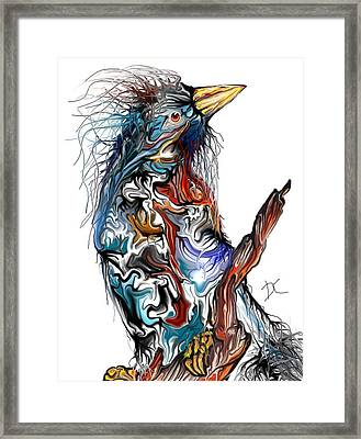 Framed Print featuring the digital art Lsd Bird by Darren Cannell