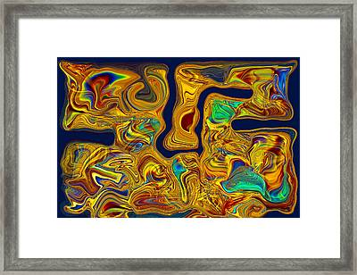 Framed Print featuring the painting LSD by Omaste Witkowski