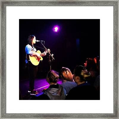 @lspraggan #hometour #home #livemusic Framed Print by Natalie Anne