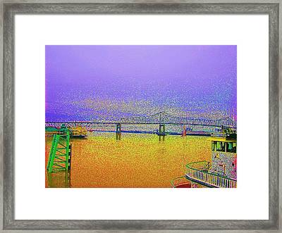 Lsu Bleeds Purple And Gold Framed Print