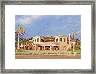 Lsu Championship Plaza Framed Print by Scott Pellegrin