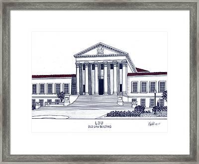 Lsu Old Law Building Framed Print