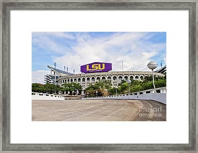 Lsu Tiger Stadium Framed Print
