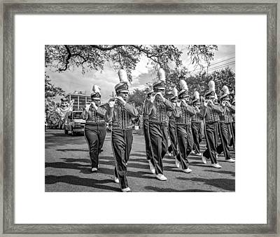 Lsu Tigers Band 5 - Bw Framed Print by Steve Harrington