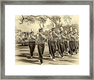 Lsu Tigers Band 5 - Sepia Framed Print
