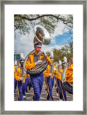 Lsu Tigers Band 6 Framed Print by Steve Harrington