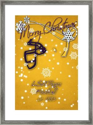 Lsu Tigers Christmas Card 2 Framed Print