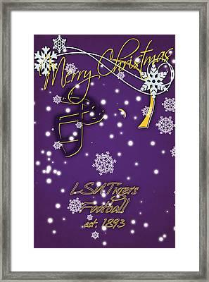 Lsu Tigers Christmas Card Framed Print