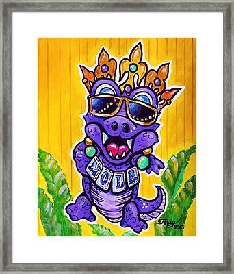 Lt Aka Nola Gator Framed Print by Terry J Marks Sr