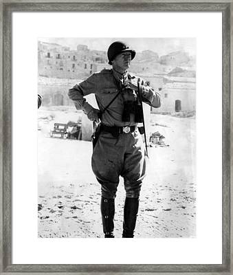 Lt. General George Patton, Sicily, 1943 Framed Print