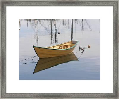 Lttle Row Boat Framed Print by Frederic Durville