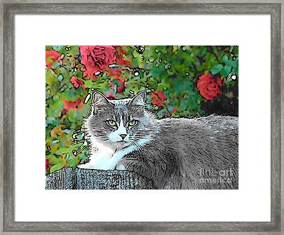 Lu With Roses Framed Print