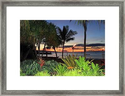 Luau Sunset Maui Framed Print by Pierre Leclerc Photography