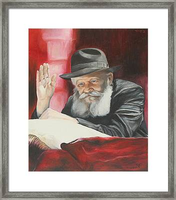Lubavitcher Rebbe Framed Print by Miriam Leah
